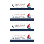 Sailboat and anchor address labels