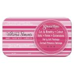 Cute Pink Stripes Hair & Beauty Business Cards