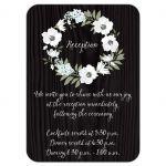 Rustic floral wreath wedding reception enclosure card
