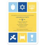 Hanukkah Party Invitation - Simple Icons