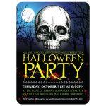 Halloween Party Invitation - Eerie Moonlight Skull