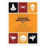 Halloween Party Invitation - Simple Icon Grid