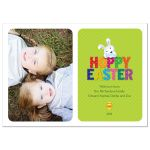 Easter Photo Card - Cute Hoppy Easter Bunny