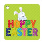 Easter Gift Tag - Cute Hoppy Easter Bunny