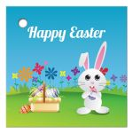 Easter Favor Tag - Mischievous Easter Bunny