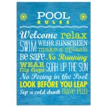 Art Print 5x7- Rules for the Pool