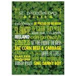 5x7 Art Print - Rules for St. Patrick's Day