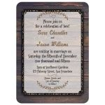Rustic Hipster Timber Wedding Invitation