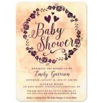 Watercolor Wreath Baby Shower Invitations front