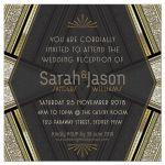 Art Deco Black Gold Glitter Wedding