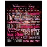 8x10 Art Print - Rules for Valentine's Day Bokeh Heart
