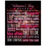 8x10 Art Print - Rules for Valentine's Day Bokeh Heart