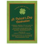 Lucky Clover St. Patrick's Day Invitation front
