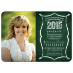Class of 2015 Chalkborad Typography Graduation Invitations front