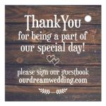 Rustic Wood Thank You Gift tag