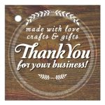 Rustic Knot Wood Thank You Gift Card