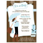 Modern Mom Boy Baby Shower Invitation