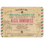 Bridal Wedding Shower invitation - Vintage Hawaiian Airmail
