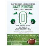 Baby Shower invitation - Green Football Field