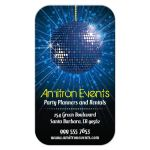 Business Card - Party Planning Equipment Rental Blue Mirror Ball