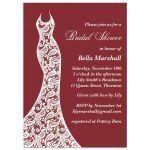 Delicate lace wedding dress on marsala, bridal shower