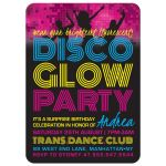 Disco Glow Party Invitations front