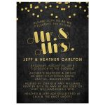 Gold Confetti Mr & Mrs Engagement Party Invitations front