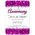 Elegant Pink Glittery Confetti Anniversary Invitation