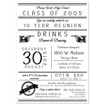 Customizable Trendy Typography High School Class Reunion Invitation