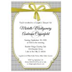 Trendy Gold And Silver Gingham Bridal Shower Invitation