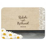 Reply RSVP Card - Rustic Tin Can Lace and Daisies Wedding