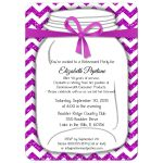 Sparkly Pink And White Chevron Retirement Party Invitation