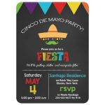 Cinco de Mayo Chalkboard Fiesta Invitation
