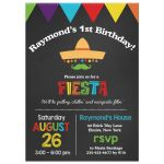 1st Birthday Chalkboard Fiesta Party Invitation