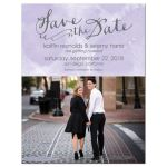 Purple Watercolor Wash Save The Date Magnets