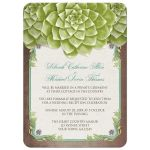 Reception Only Invitations - Rustic Succulent Garden