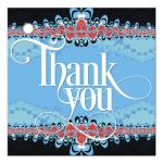 Red+Blue Lace Frills Thank You