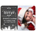 Festive Chalkboard Custom Photo Christmas Greeting Card