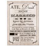 Vintage poster post-wedding reception invitation