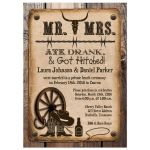 Post-wedding reception only invitations with Western Theme