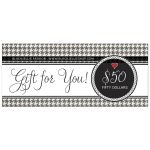Black White Cute Houndstooth Gift Certificate