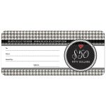 Black White Cute Houndstooth Gift Certificate template