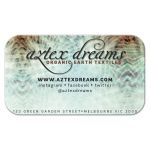 Abstract tribal Earthy Aqua Business Card