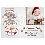 Whimsical Santa With Gifts Customizable Photo Christmas Card