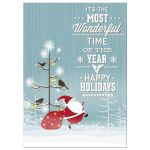 Happy Santa Personalized Photo Christmas Card