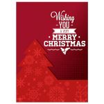 Retro Geometric Christmas Tree Photo Greeting Card