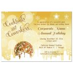 Trendy Gold Cocktails And Coworkers Holiday Party Invitations