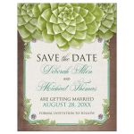 Save the Date Magnets - Rustic Succulent Garden