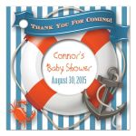 Nautical baby shower favor tag