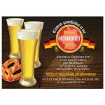 Party Invitation - Three Beers and Pretzel Oktoberfest